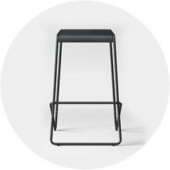 Chair Stool Black How To Repair Patio Straps Bar Stools Counter Target Backless