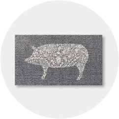 Gray Kitchen Rugs Table With Storage Underneath Farmhouse Target Mats