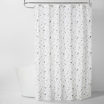 terrazo fabric shower curtain room essentials