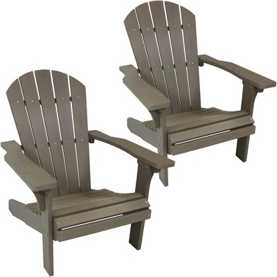 gray adirondack chairs wood swivel chair all weather set of 2 target