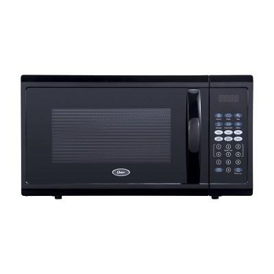 oster 1 1 cu ft 1100w digital microwave oven black ogzj1104