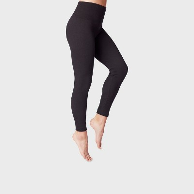 Women's High Waist French Terry Leggings - A New Day™ Black
