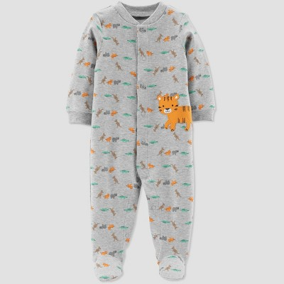 Baby Boys' Tiger Sleep 'N Play One Piece Pajama - Just One You® made by carter's Gray