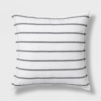 Woven Stripe Oversize Square Throw Pillow - Threshold™