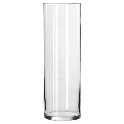 "Clear Cylinder Vase (9.5"") - Libbey"