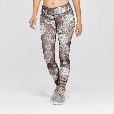 "Women's Performance Grey Chrysathemum Printed Mid-Rise Leggings 29"" - JoyLab™"