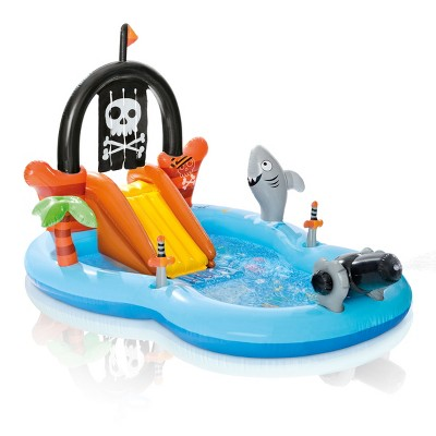 "Intex 97"" x 76"" x 59"" Pirate Play Center Inflatable Pool with Sprayer"