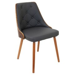 Modern Gray Dining Chairs Staples Ergonomic Office Gianna Mid Century Walnut Upholstered Wood Back Chair Lumisource