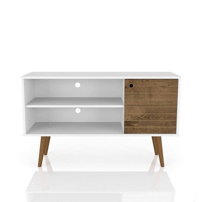 "42.52"" Liberty Mid Century - Modern TV Stand with 2 Shelves and 1 Door - Manhattan Comfort"