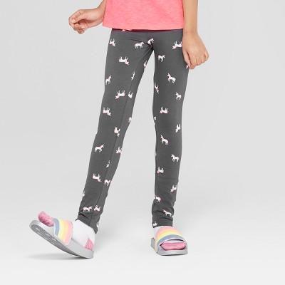 Girls' Unicorn Print Leggings - Cat & Jack™ Gray