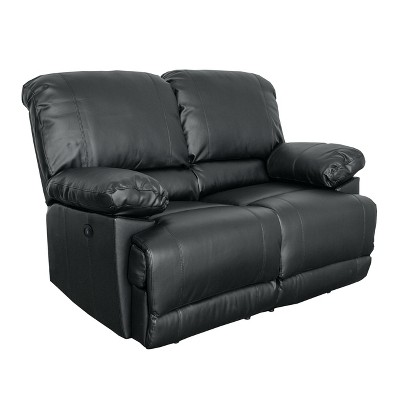 Lea Bonded Leather Power Reclining Loveseat with Usb Port - CorLiving