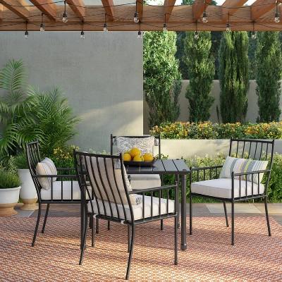 fernhill 5pc patio dining set white threshold