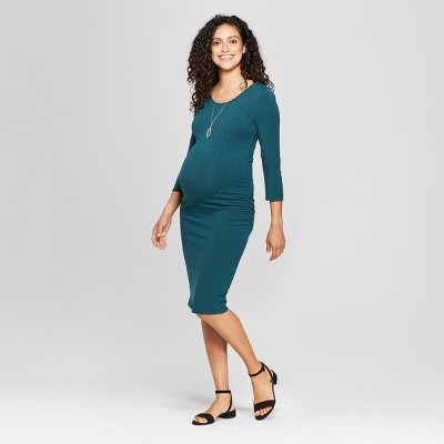 Maternity 3/4 Sleeve Shirred T-Shirt Dress - Isabel Maternity by Ingrid & Isabel™