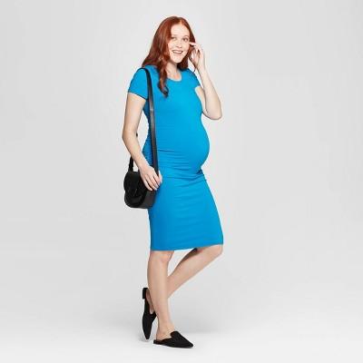 Maternity Short Sleeve Shirred T-Shirt Dress - Isabel Maternity by Ingrid & Isabel™