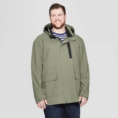 Men's Big & Tall Elevated Rain Jacket - Goodfellow & Co™ Olive
