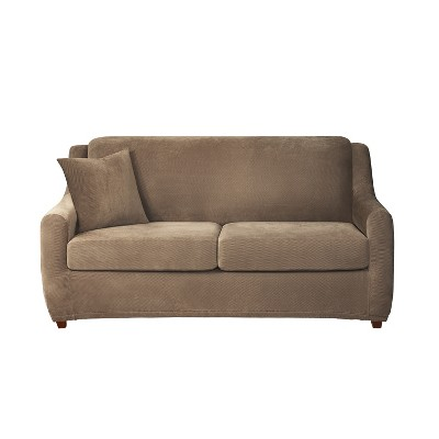 Stretch Pique 4pc Full Size Sleeper Sofa Slipcover - Sure Fit