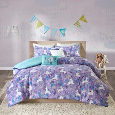 laila cotton purple printed