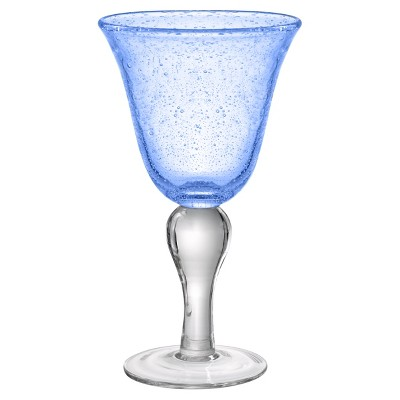 Artland Iris 14oz 4pk Glass Goblets Light Blue