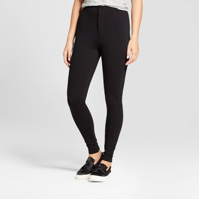 Women's Front Seam Ponte Pants - A New Day™ Black