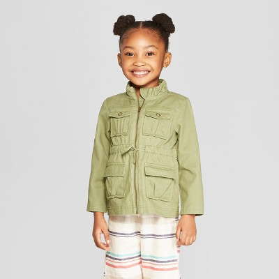 Genuine Kids® from OshKosh Toddler Girls' Utility Coat - Green