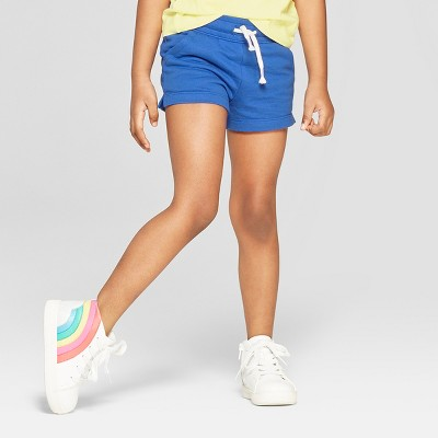 Toddler Girls' Straight Pull-On Shorts - Cat & Jack™ Blue
