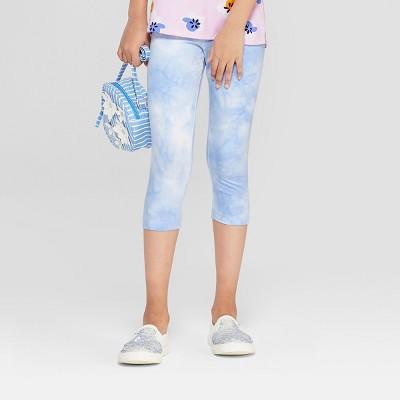 Girls' Tiedye Capri Leggings - Cat & Jack™ Blue