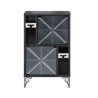Thora Wine Cabinet Black - miBasics