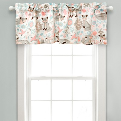 Pixie Fox Room Darkening Window Curtain Panels Gray/Pink - Lush Decor