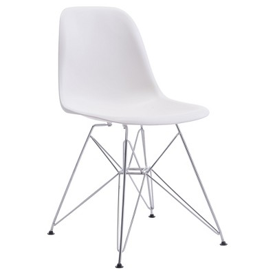 white plastic dining chairs chair cover hire southampton mid century modern chromed steel and abs zm home