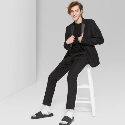 Men's Casual Fit Mid-Rise Straight Suit Pants - Original Use™ Black