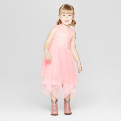 Toddler Girls' Sequin A-Line Dress - Cat & Jack™ Pink