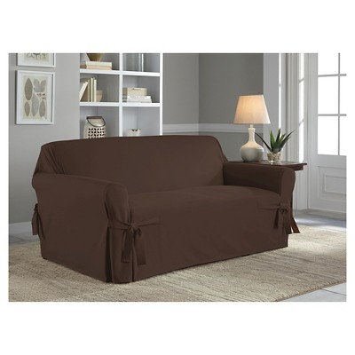 Relaxed Fit Duck Furniture Sofa Slipcover - Serta