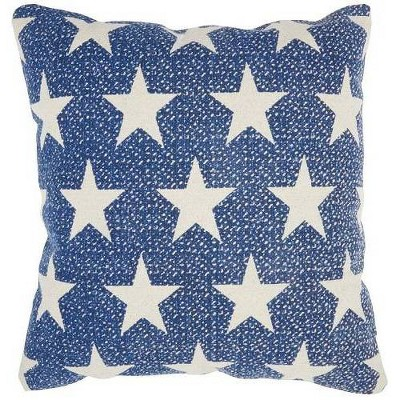 Life Styles Printed Stars Oversize SquareThrow Pillow Navy - Mina Victory