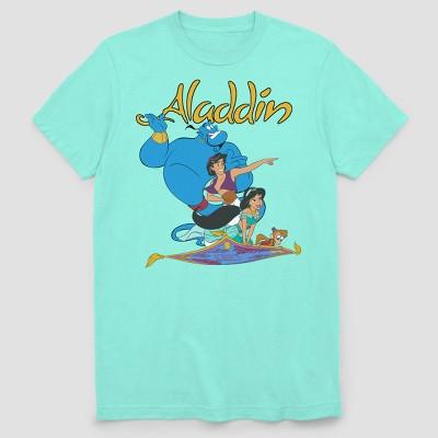 Men's Disney Aladdin Flying Buddies Short Sleeve Graphic T-Shirt - Mint