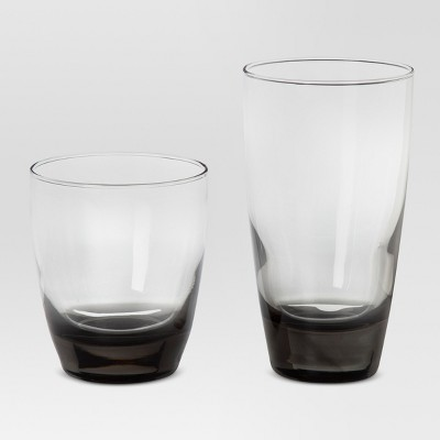 Sherbrook Glass 12pc Short and Tall Tumbler Set Smoke - Threshold™