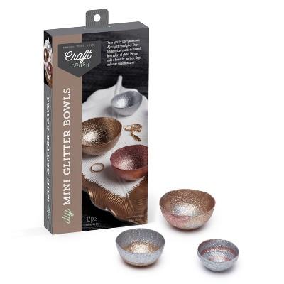 Craft Crush 3ct DIY Mini Glitter Bowls