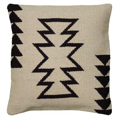 ivory black southwestern stripe throw pillow 18 x18 rizzy home