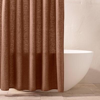chambray shower curtain clay casaluna