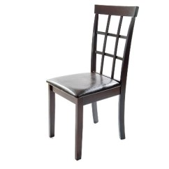Faux Leather Dining Chairs Dune Chair Accessories Helena Black Set Of 2 Home Source Industries