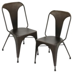 Industrial Dining Chair Used Covers On Ebay Austin Metal Antique Bronze Set Of 2 Lumisource Target