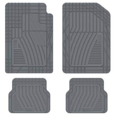 "19""x34"" 4pc Shape Fit Rubber Carpet Gray - Michelin"