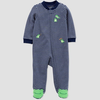 Baby Boys' Striped Frogs Sleep 'N Play - Just One You® made by carter's Navy Blue