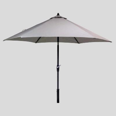 9 round patio umbrella sunbrella spectrum dove black pole smith hawken