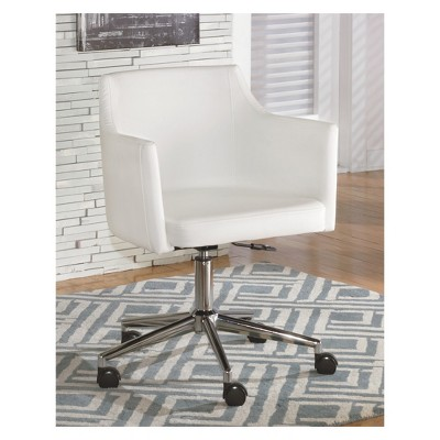 desk chair home office french dining chairs baraga swivel white signature design by ashley target