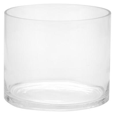"6""x7"" Glass Cylinder Vase - Diamond Star"