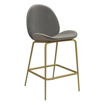 Astor Velvet Upholstered Counter Stool - CosmoLiving by Cosmopolitan
