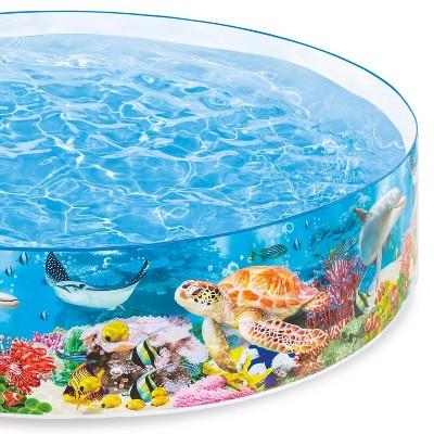 Intex 58472Ep Snapset Kiddie 8 X 8 Foot Instant Swimming Pool, Deep Sea Blue