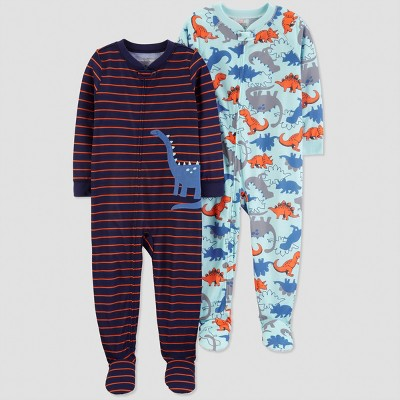 Toddler Boys' Stripe Dino One Piece Pajama - Just One You® made by carter's Blue