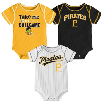 MLB Pittsburgh Pirates Boys' 3pk Bodysuit Set