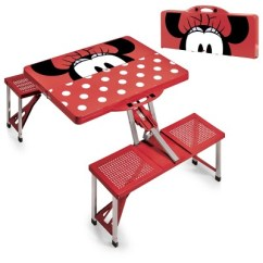 Minnie Mouse Folding Chair Desk Under Picnic Time Disney Portable Table Red Target